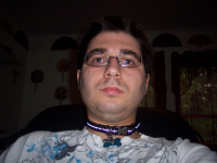 Me wearing a collar
